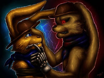 Eternal confrontation *Art trade* by Jam-Graphics