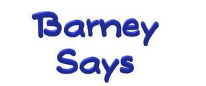Nearly Recreated Barney Says Logo (Season 1)