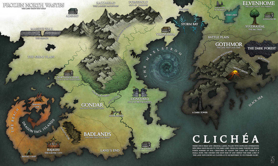 Map of Clichea by Sarithus