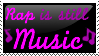 Rap is Music Stamp by GoldenBauble