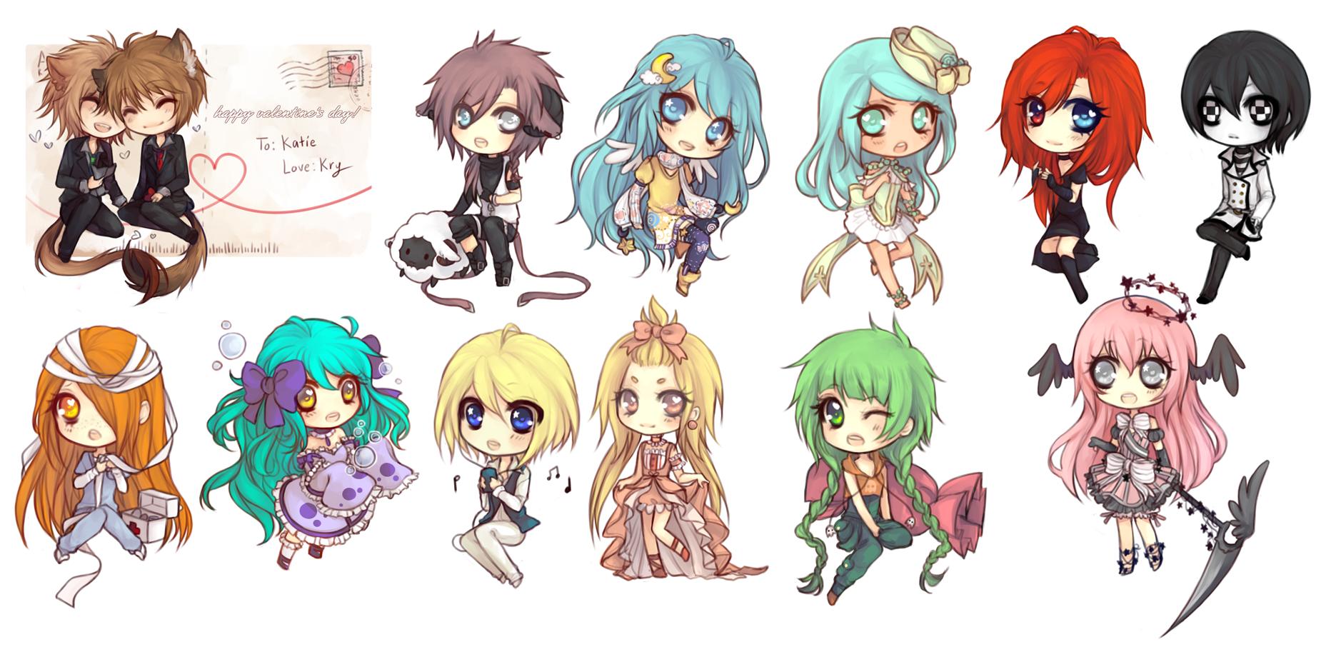 Anime Chibi Girl Friends | newhairstylesformen2014.com
