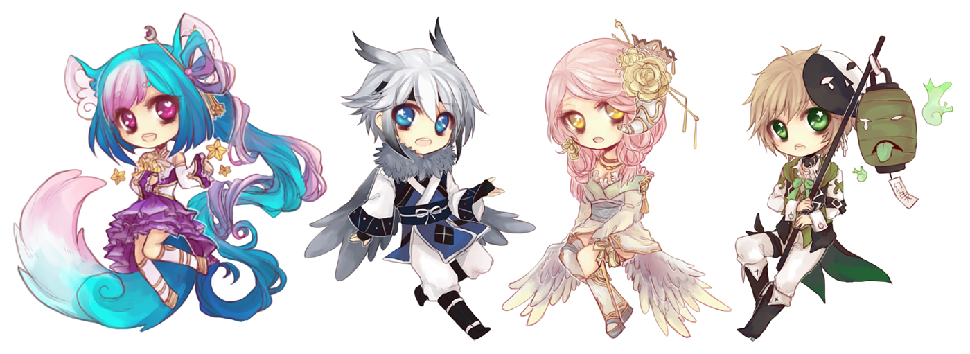 [11.28.2013] chibi commissions by akiicchi