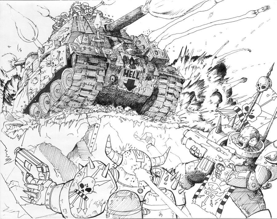 Warhammer Massive Attack by Brasuka