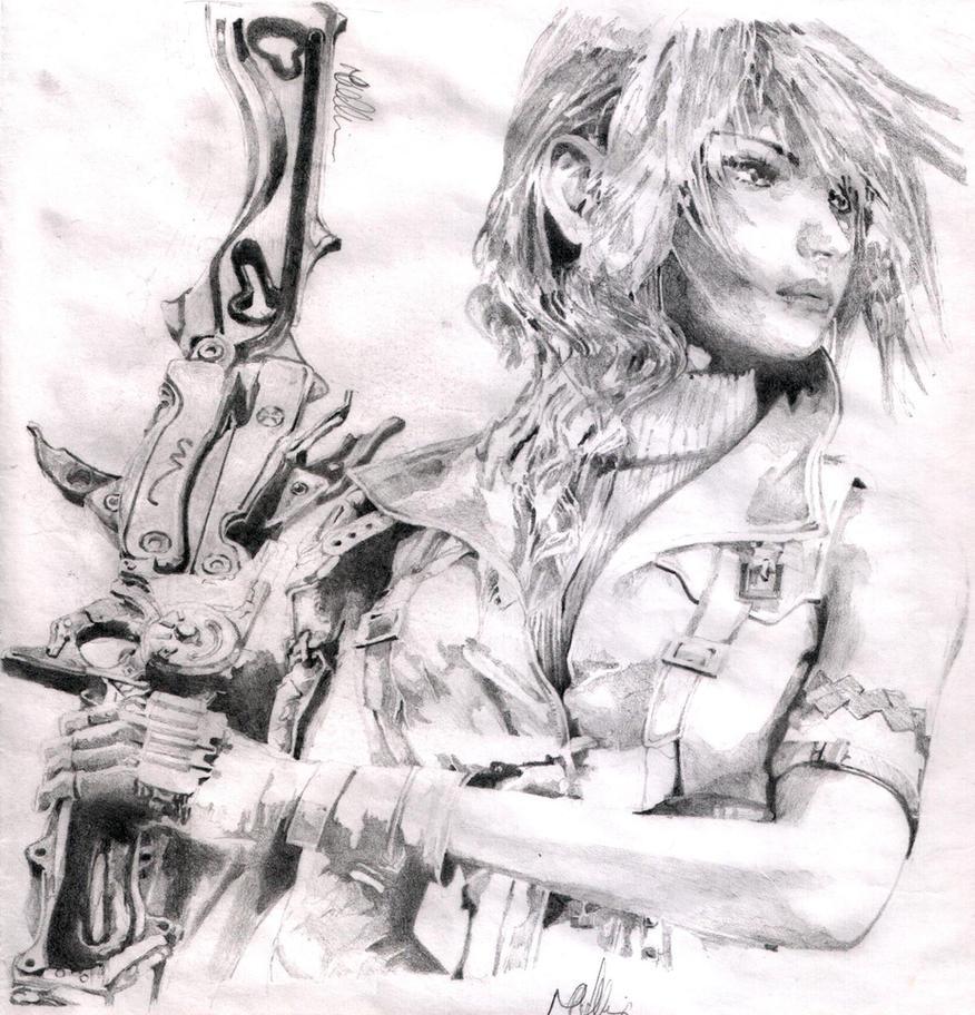 Lightning Claire Farron by baddassmatt