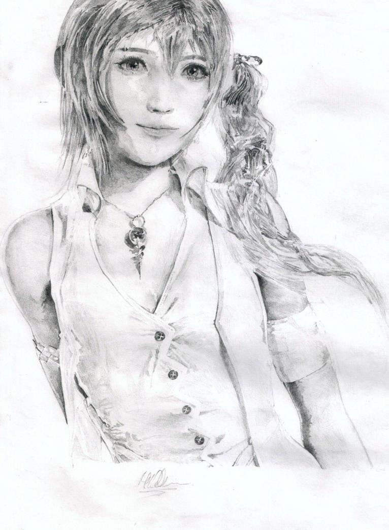 Serah Farron drawing by baddassmatt