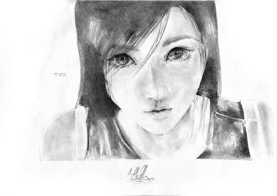 Tifa Lockhart Drawing by baddassmatt
