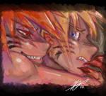 Kyuubi and Naruto - take me on
