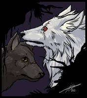 Naruto Wolves by cheenot