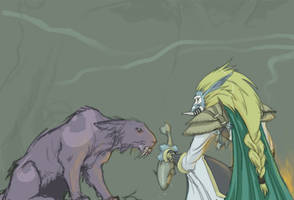 WoW fanarts - Druid and Priest by cheenot