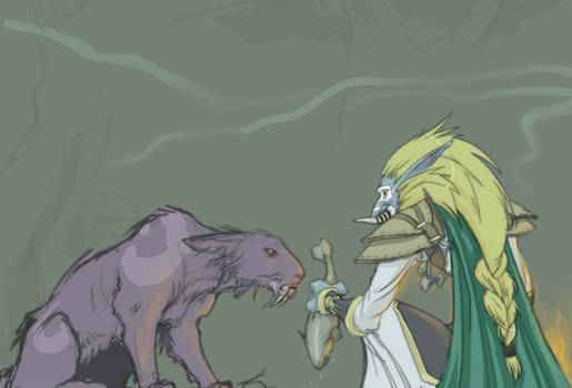 WoW fanarts - Druid and Priest