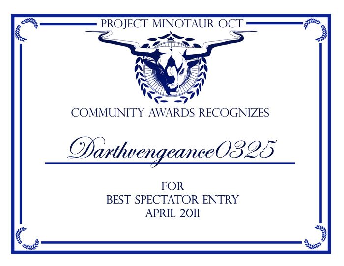 Spectator Award by DarthVengeance0325