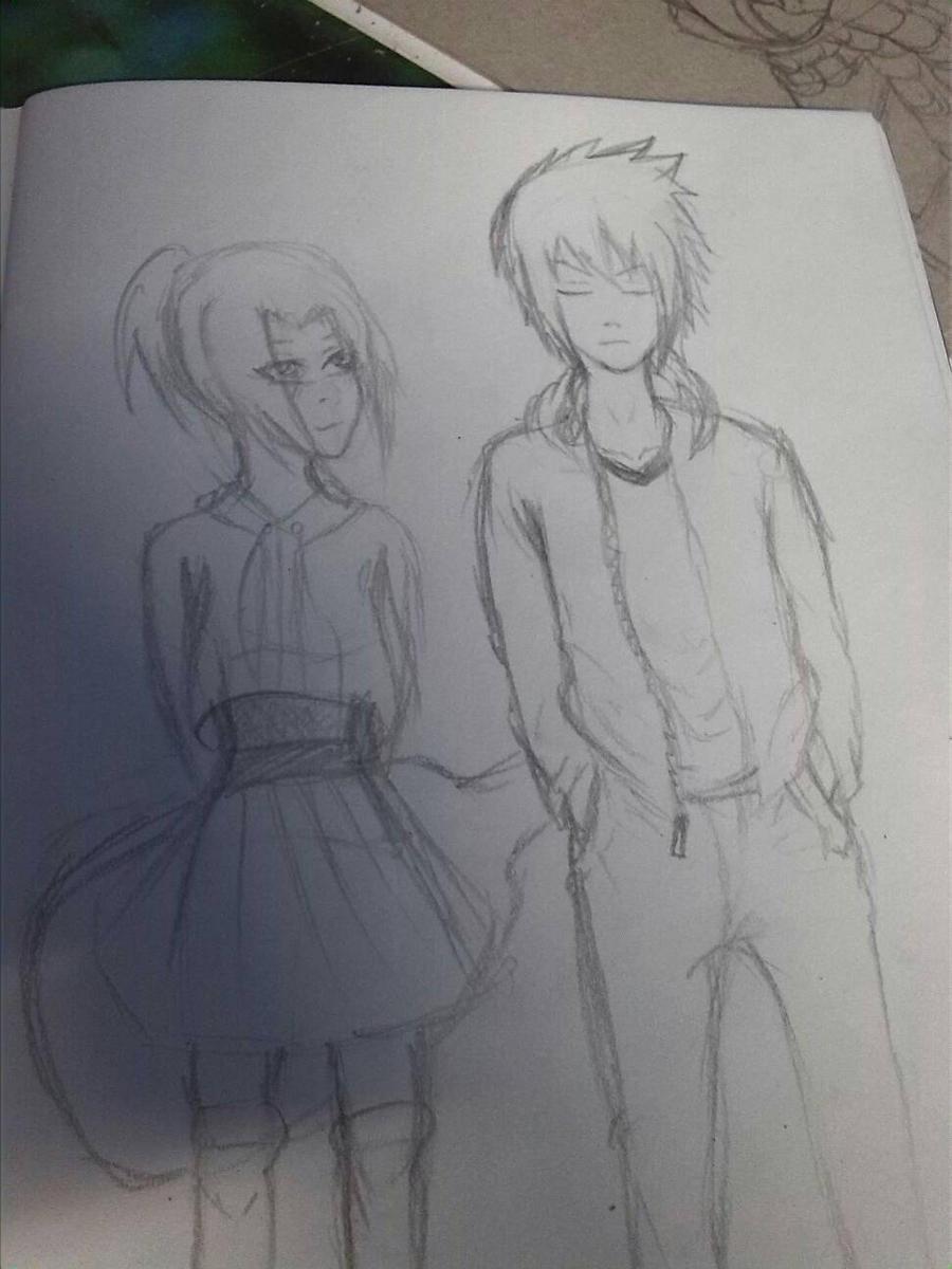 Sakura Haruno And Sasuke Uchiha Fanart By Drawprincess On Deviantart