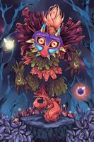 The Legend of Zelda Majora's Mask : Skull Kid by Hodremlin