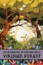Pokemon Travel Poster - Viridian Forest by Hodremlin