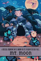 Pokemon Travel Poster - Mt. Moon by Hodremlin