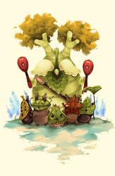 Legend of Zelda Breath of the Wild : Korok Friends by Hodremlin