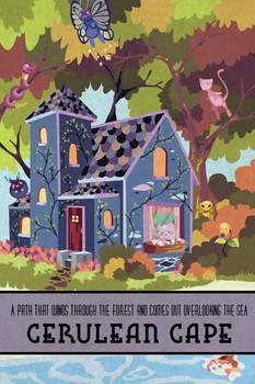 Pokemon Travel Poster - Cerulean Cape