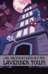 Pokemon Travel Poster - Lavender Town