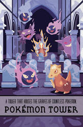 Pokemon Travel Poster - Pokemon Tower