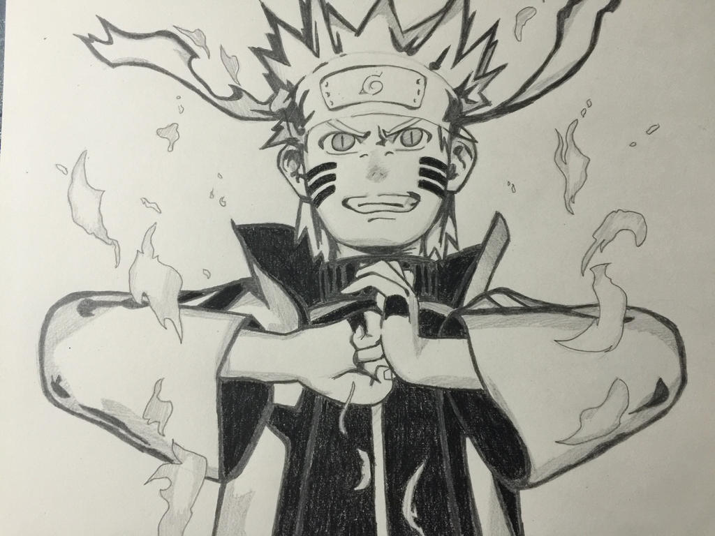 Naruto Nine Tails Chakra Mode by Trex143 on DeviantArt