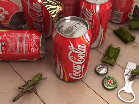 cokes, tanks and a butterfly
