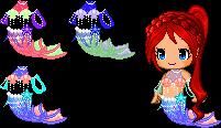 Fantage-Mermaid Girl Pack by Brinjsana