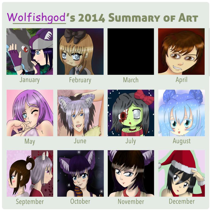 2014 Summary of Art by wolfishgod