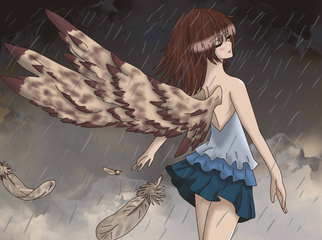 [Contest Entry] Farrah In The Rain by wolfishgod