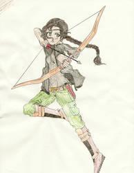 Katniss Colored by EllaMinnoP