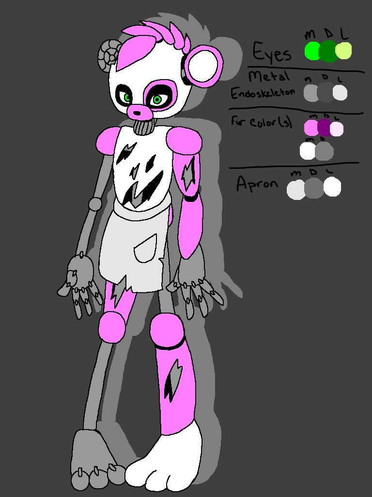 Amethyst the panda waitress fnaf fan character by kkisadorabubble