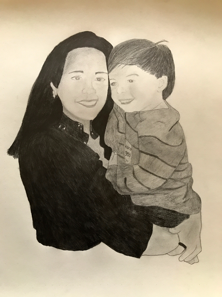 Mother and son by ariya-sacca