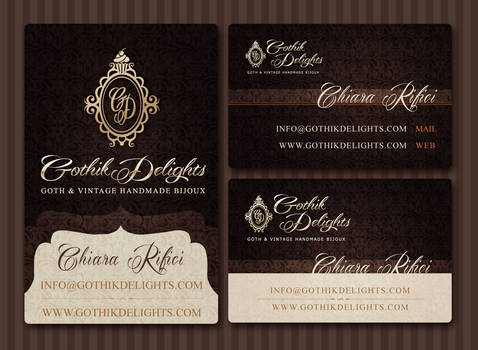 Gothik Delights Business Card