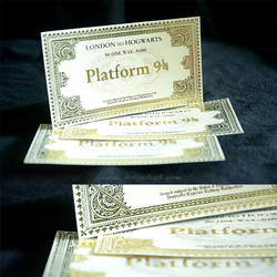 Homemade Hogwarts Express ticket