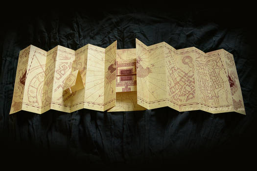 Marauder's Map Homemade Replica