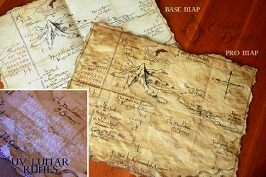 Map from The Hobbit film, with UV Lunar lunes