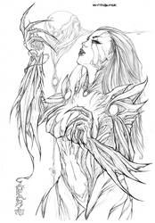 Witchblade - commission by Giuseppe-Cafaro