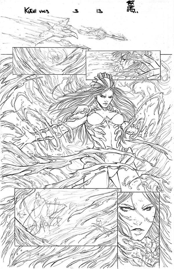 Fathom: Kiani vol 3 #3 pg13 - Pencil by Giuseppe-Cafaro