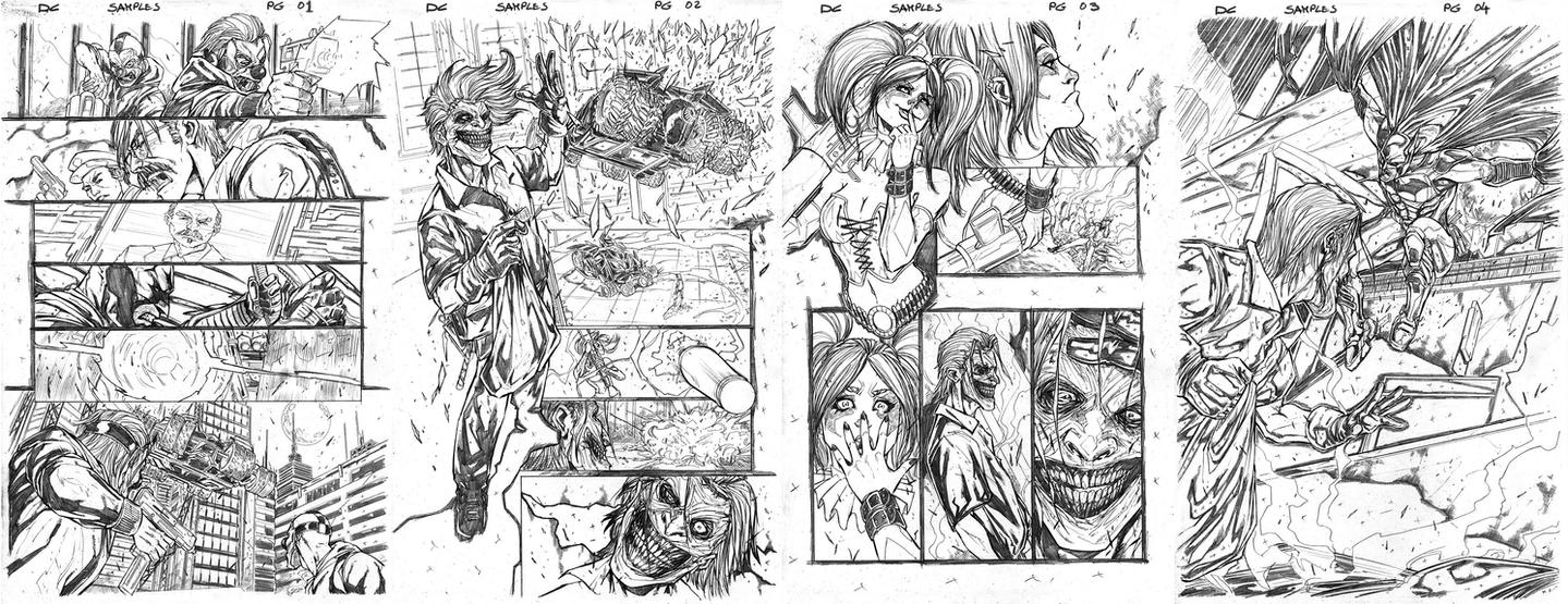 DC Comics Sample pages by Giuseppe-Cafaro