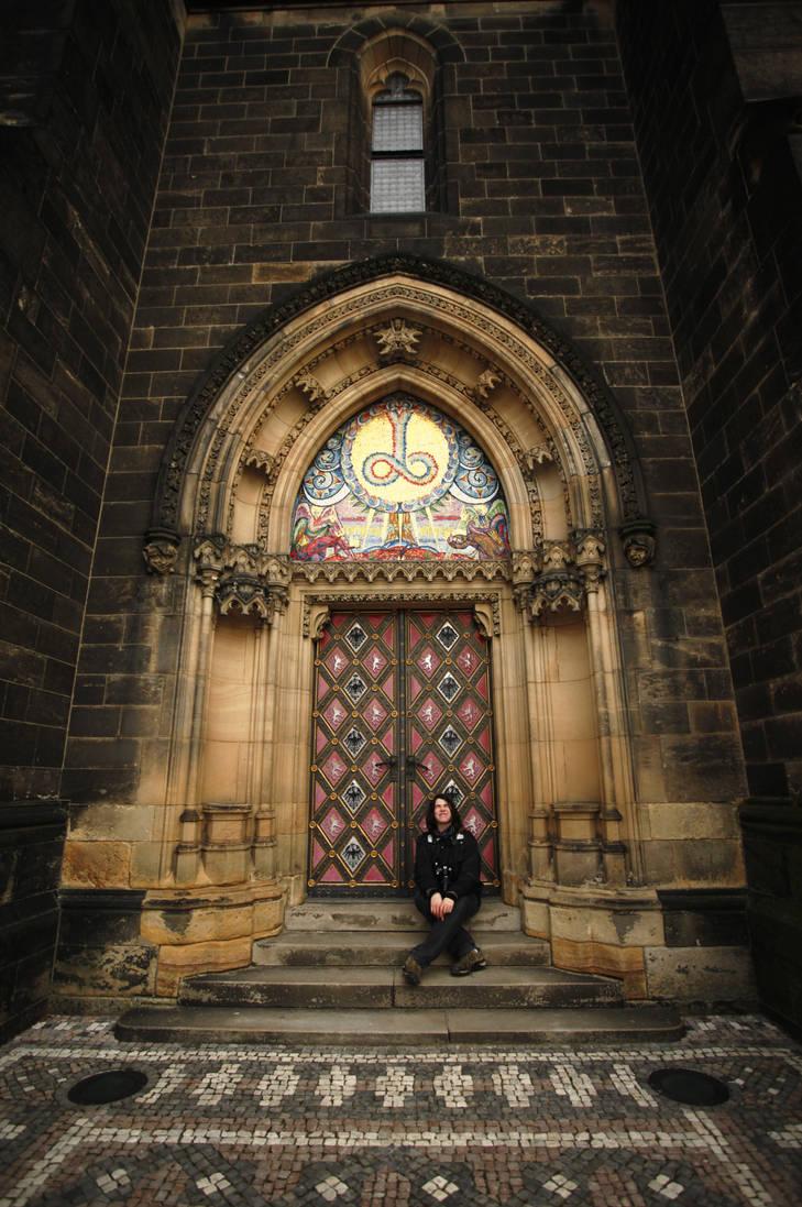 Church door by Ondrangon