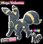 Mega Umbreon Normal And Shiny