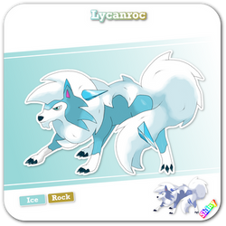 Snow Lycanroc by Nathaniel98643