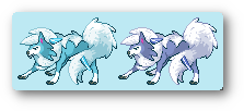 Snow Lycanroc sprite by Nathaniel98643