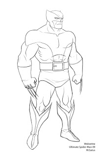 Ultimate Spider-man: Wolverine by Waltdog
