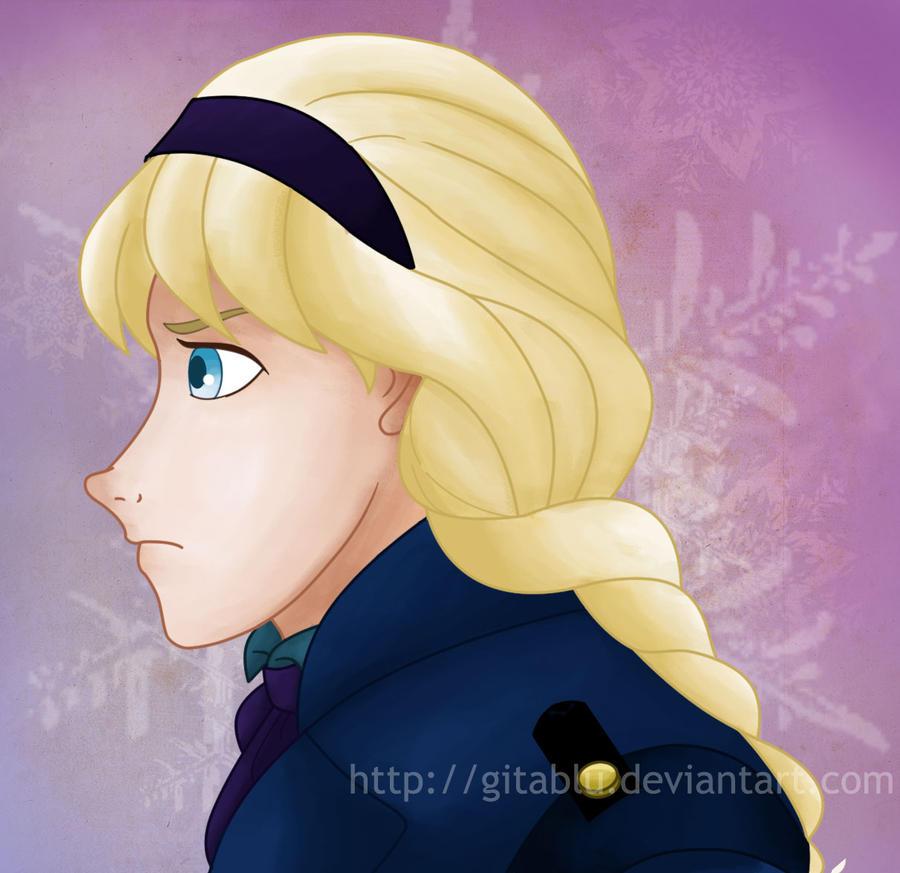 Young Elsa (Color) by gitablu