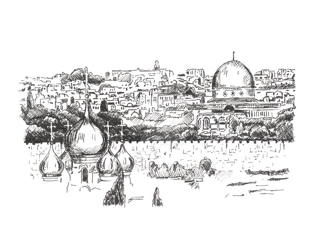 Line Art Jerusalem : Jerusalem illustration by theshums on deviantart