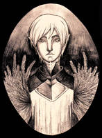 Fenris - pencil by TheFatalImpact