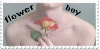 Flower Boy Stamp by Gay-Mage-Of-Space