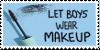 Let Boys Wear Makeup Stamp