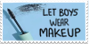 Let Boys Wear Makeup Stamp by Gay-Mage-Of-Space