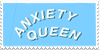 Anxiety Queen Stamp by Gay-Mage-Of-Space